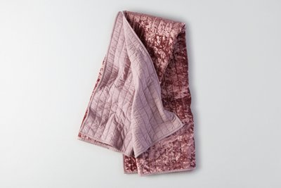 AE APT Quilted Velvet Throw Blanket, Pink | American Eagle Outfitters