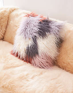 AEO APT Multi Faux Fur Pillow