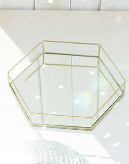AEO APT Hexagon Mirror Tray
