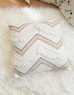 AEO APT Scotty Fringe Throw Pillow