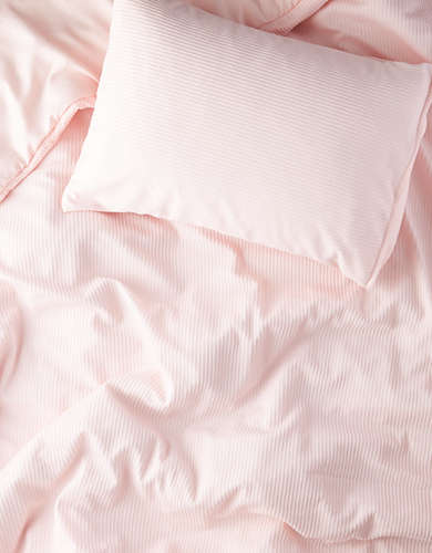 Dormify Twin XL Pink Ribbed Comforter & Sham Set -