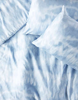 Dormify Blue Shibori Full/Queen Comforter And Sham Set