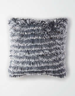 Dormify Ruffled Shag Pillow