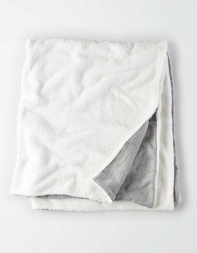 Dormify Sweatshirt/Sherpa Throw Blanket -