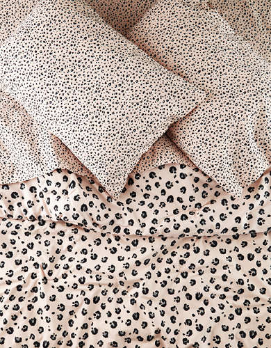 AEO APT Leopard Full/Queen 5 Piece Comforter Set