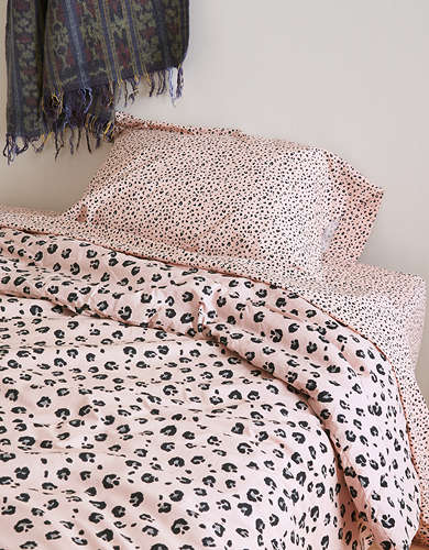 Happy Space Diana Leopard Print Twin XL 4 Piece Comforter Set
