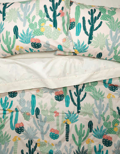 Happy Space Cacti Full/Queen Comforter Set