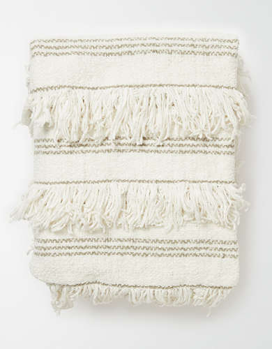 Dormify Boho Fringe Throw Blanket