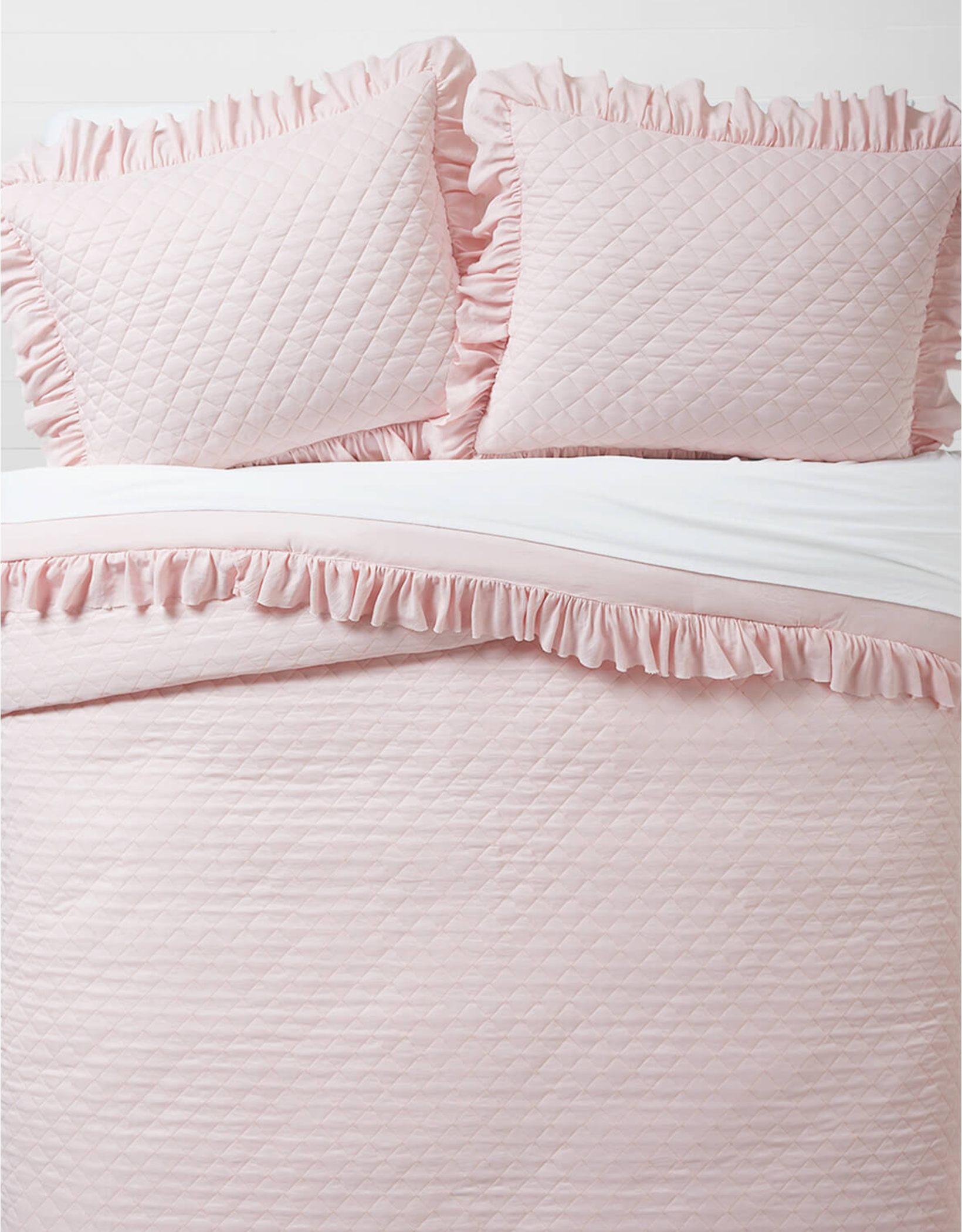 Dormify Ruffled Edge Twin XL Comforter & Sham Set