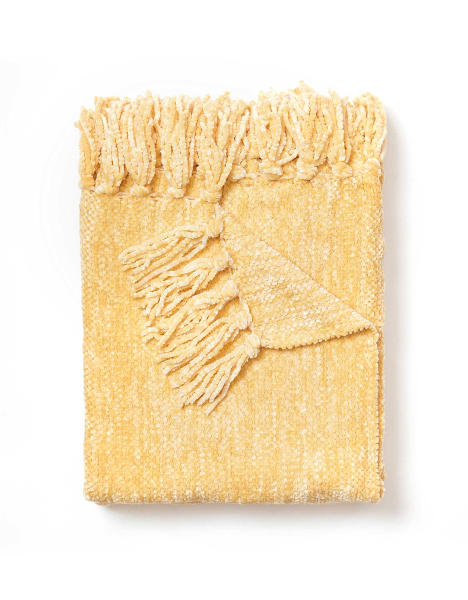 Dormify Chenille Tassel Throw Blanket