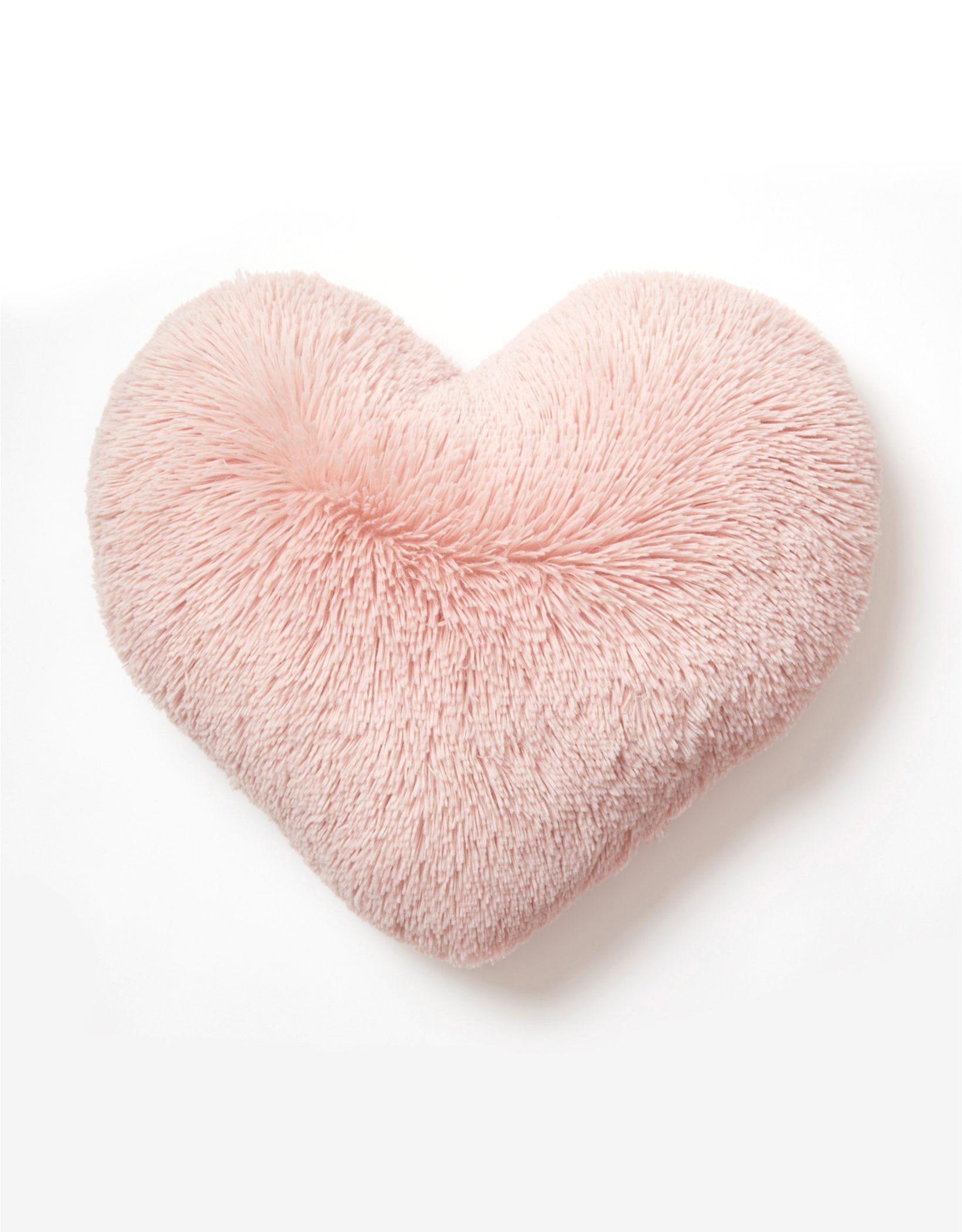Dormify Faux Fur Heart Pillow