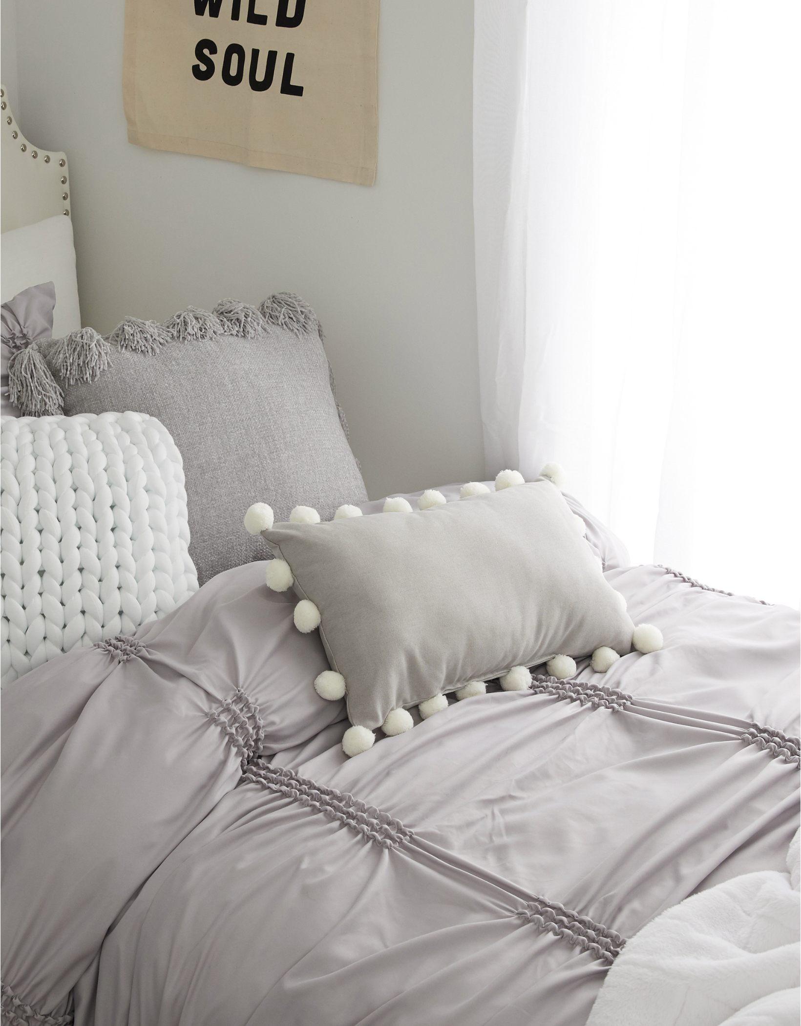 Dormify Pom Pom Border Pillow