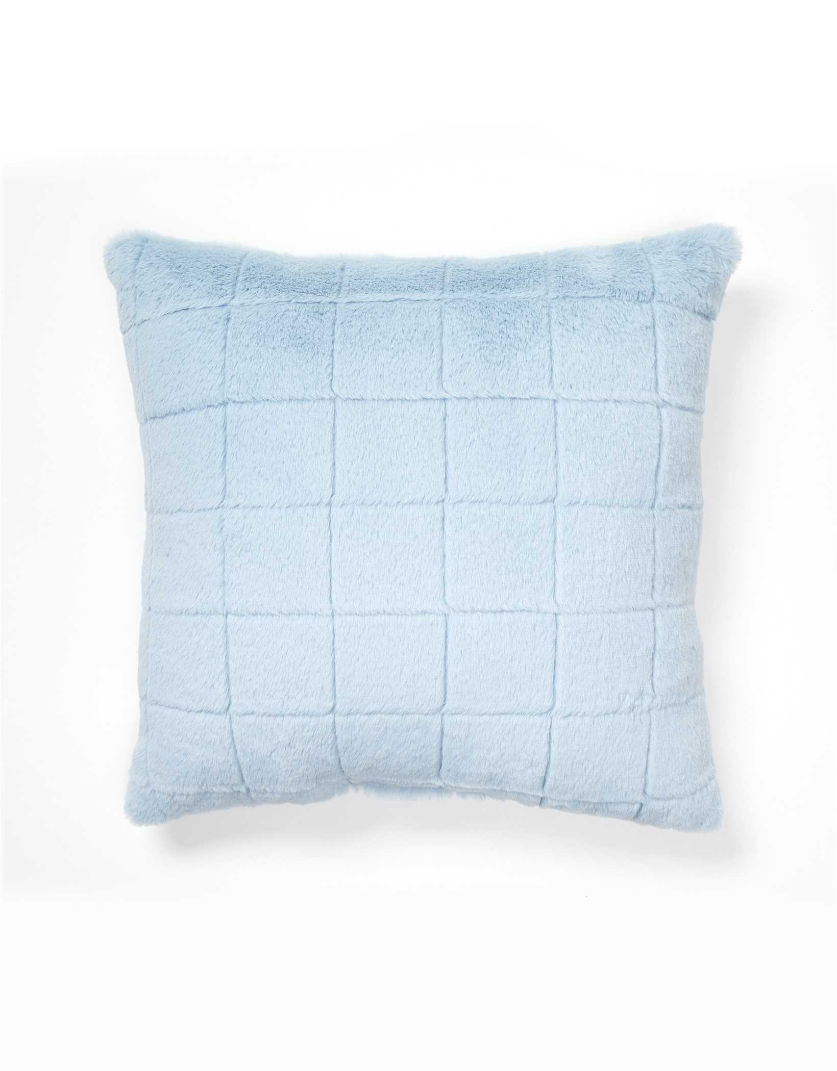 Dormify Quilted Faux Fur Pillow