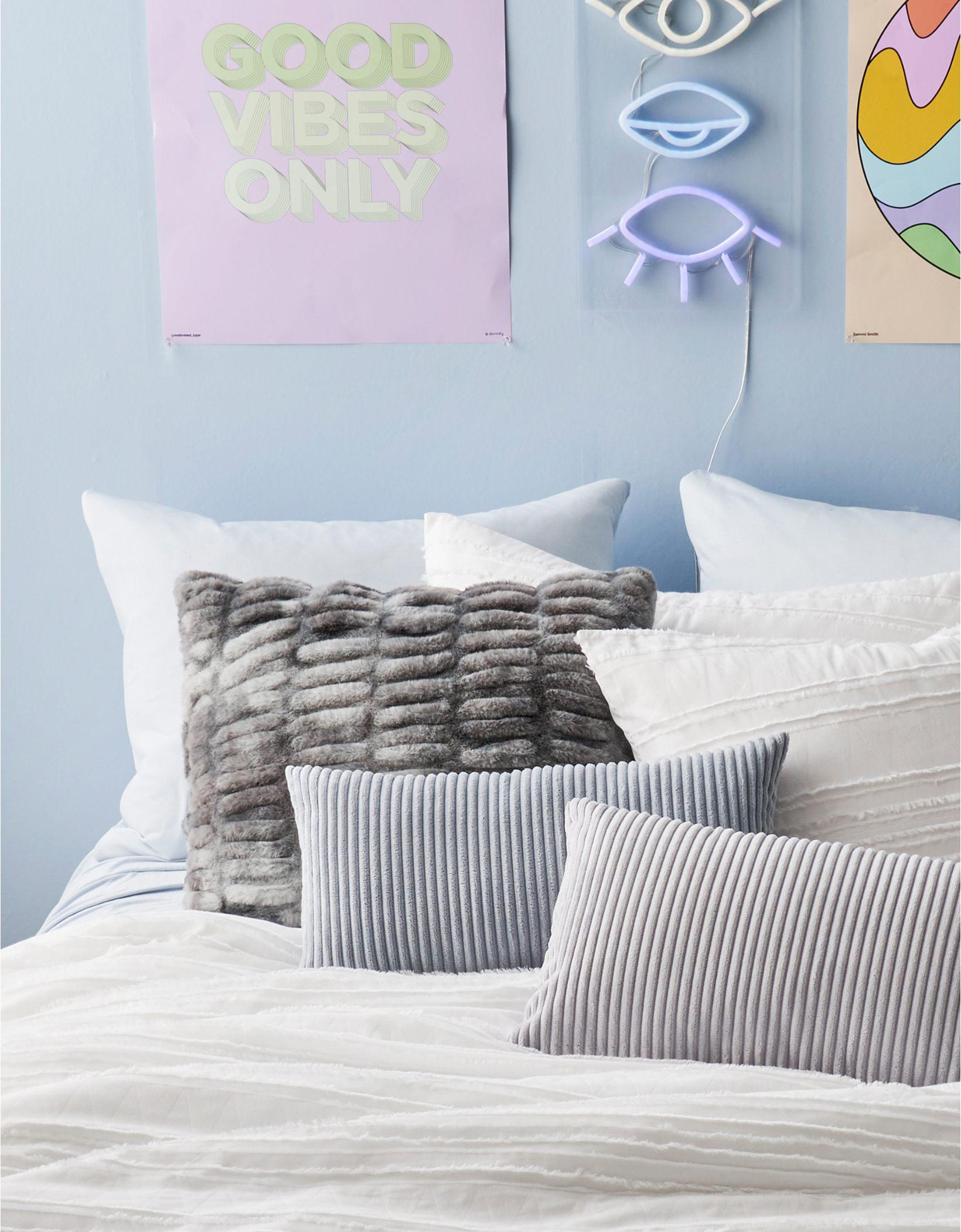 Dormify Tie-Dye Faux Fur Pillow