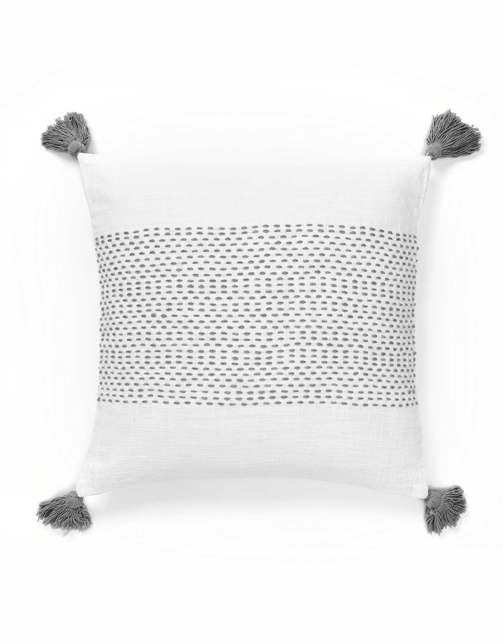 Dormify Woven Tassel Pillow