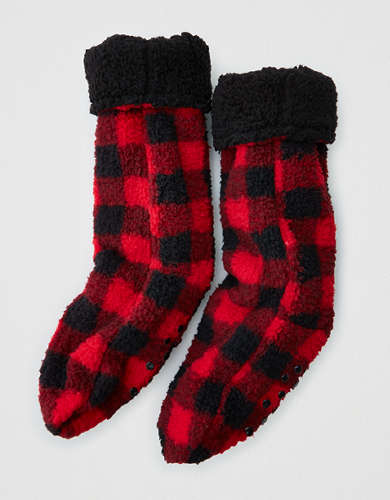 AE Fuzzy Sherpa Sock Slipper