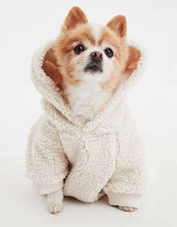 Abo Sherpa Fleece Dog Hoodie by American Eagle Outfitters