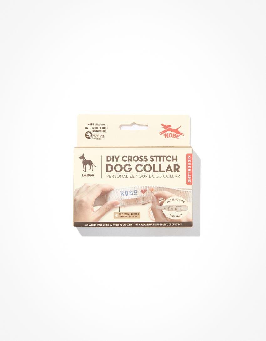 Kikkerand Cross Stitch Dog Collar