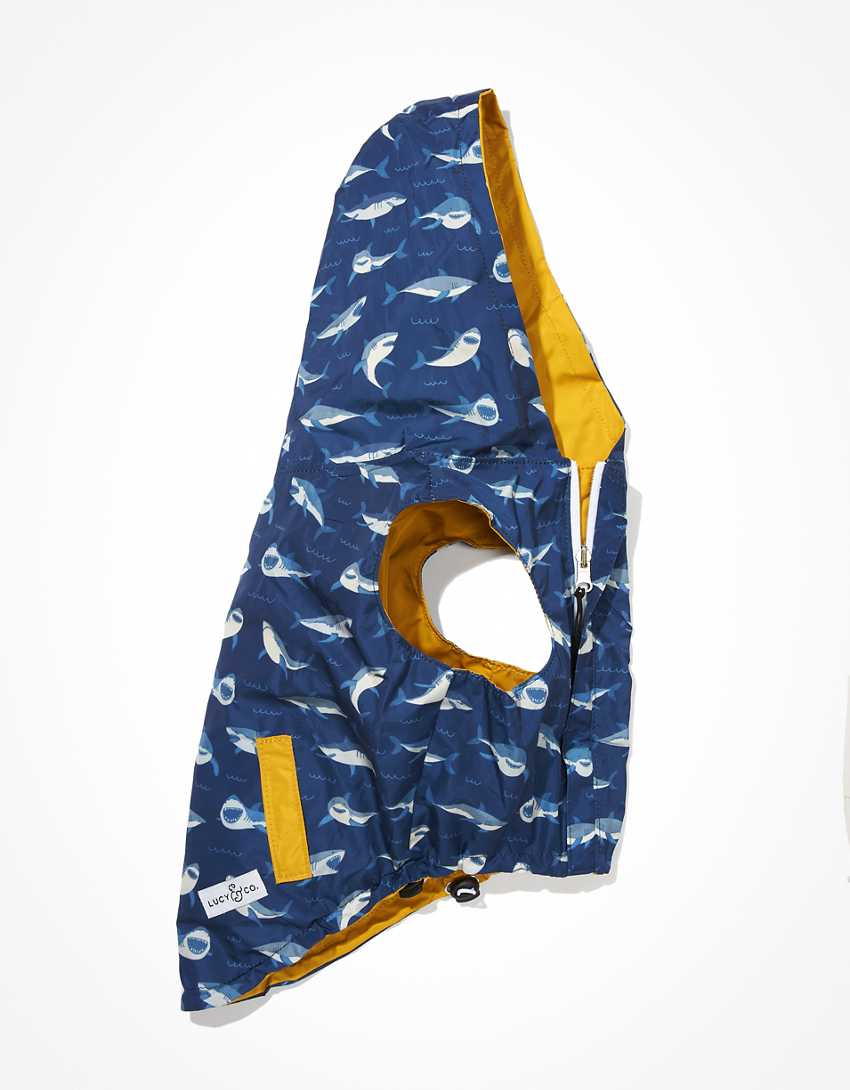 Lucy & Co. Shark Attack Reversible Raincoat