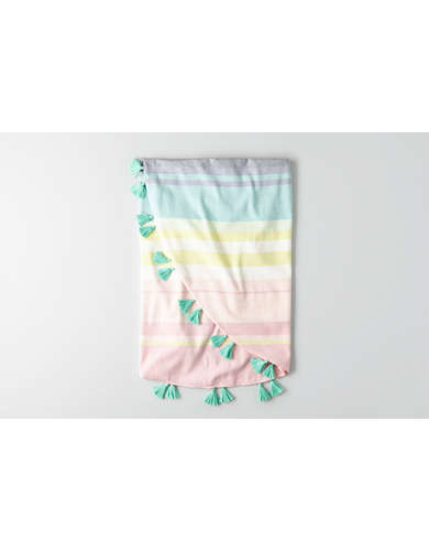 AEO Striped Circle Beach Towel -