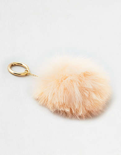 AEO Feather Pom Pom Bag Charm -