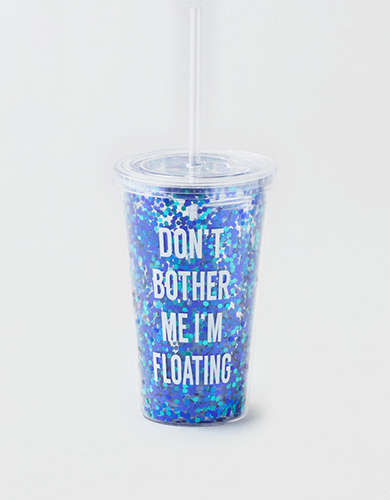 AEO Don't Bother Me Glitter Tumbler -