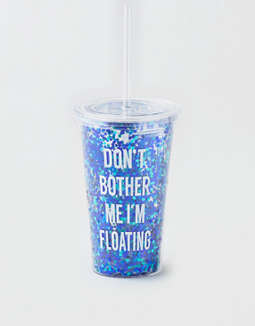 Aeo Don't Bother Me Glitter Tumbler by American Eagle Outfitters