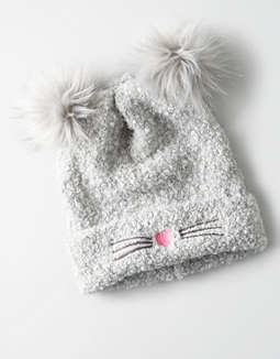 9f8632dc3a9 aeo-double-pom-cat-beanie by american-eagle-outfitters