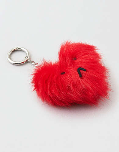 AEO Sad Heart Keychain -
