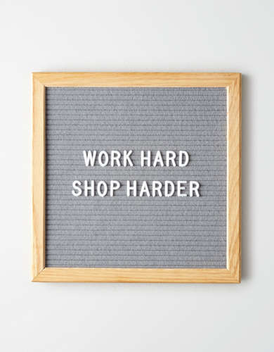 Rettel Small Talk Grey Letter Board -