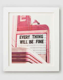 Deny Designs Everything Will Be Fine Framed Print