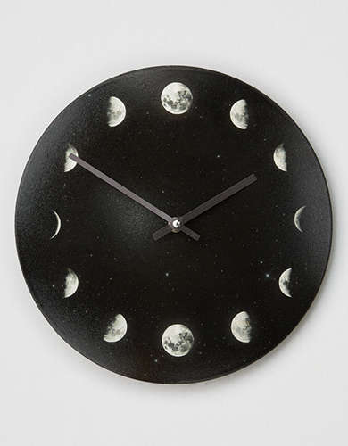 Deny Designs Moon Phases Wall Clock -