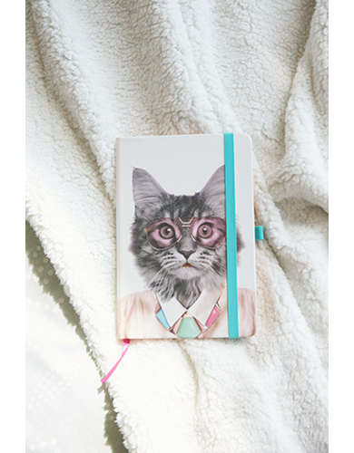 Mustard Go Wild Cat Notebook