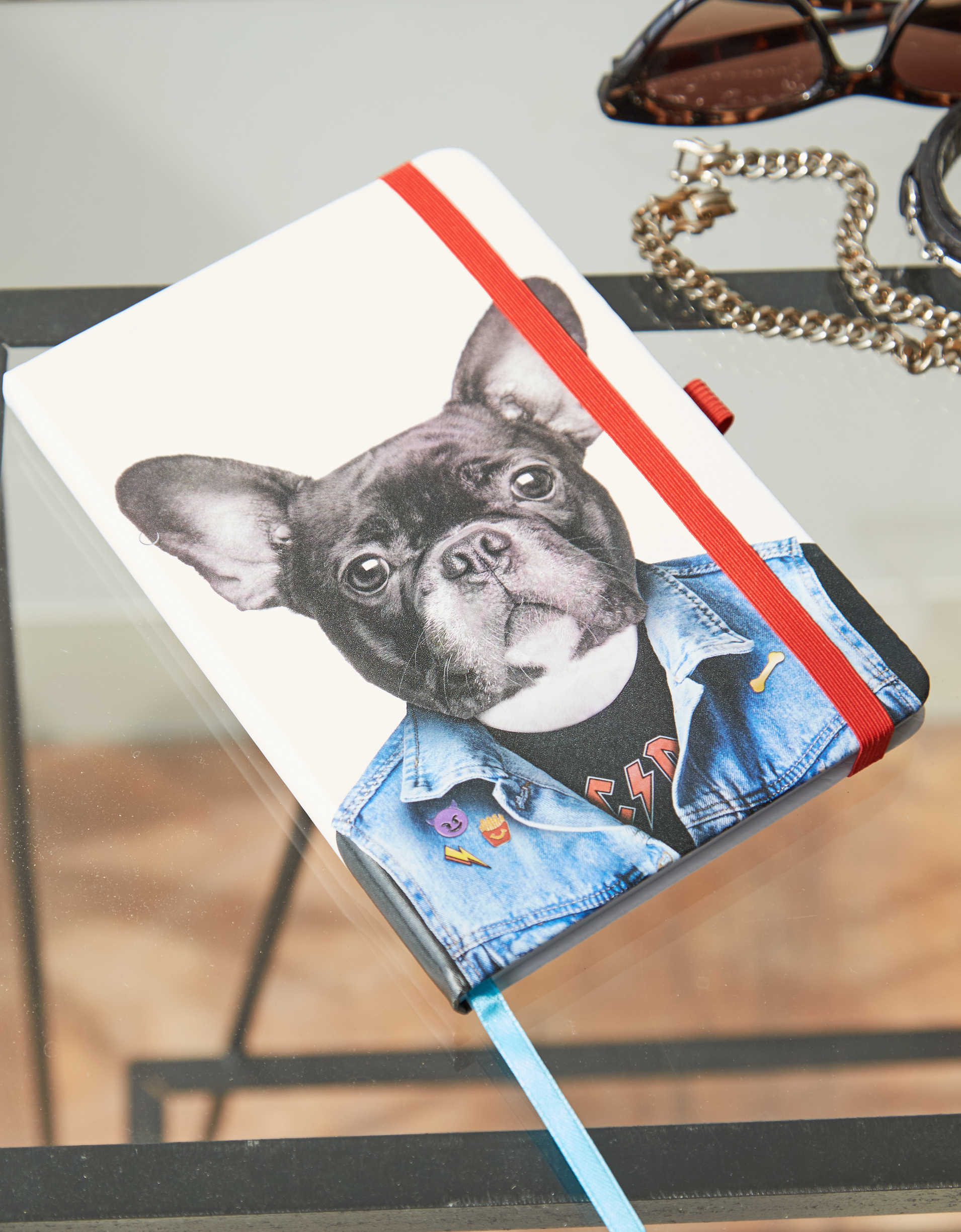 Mustard French Bulldog Notebook