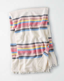 AEO Lightweight Multi Stripe Beach Blanket