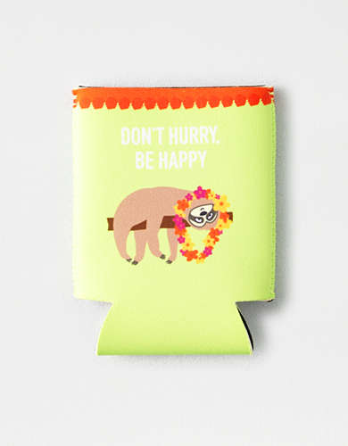 "Twelve ""Don't Hurry Be Happy"" Koozie -"