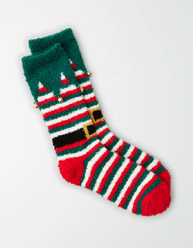 AEO Plush Elf Crew Sock