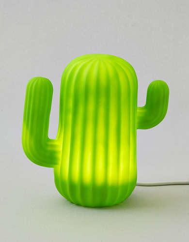 Mustard Cactus LED Lamp