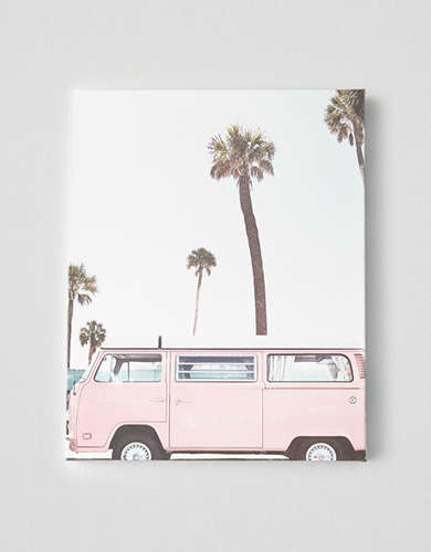 DENY Pink Van & Palms Canvas Print