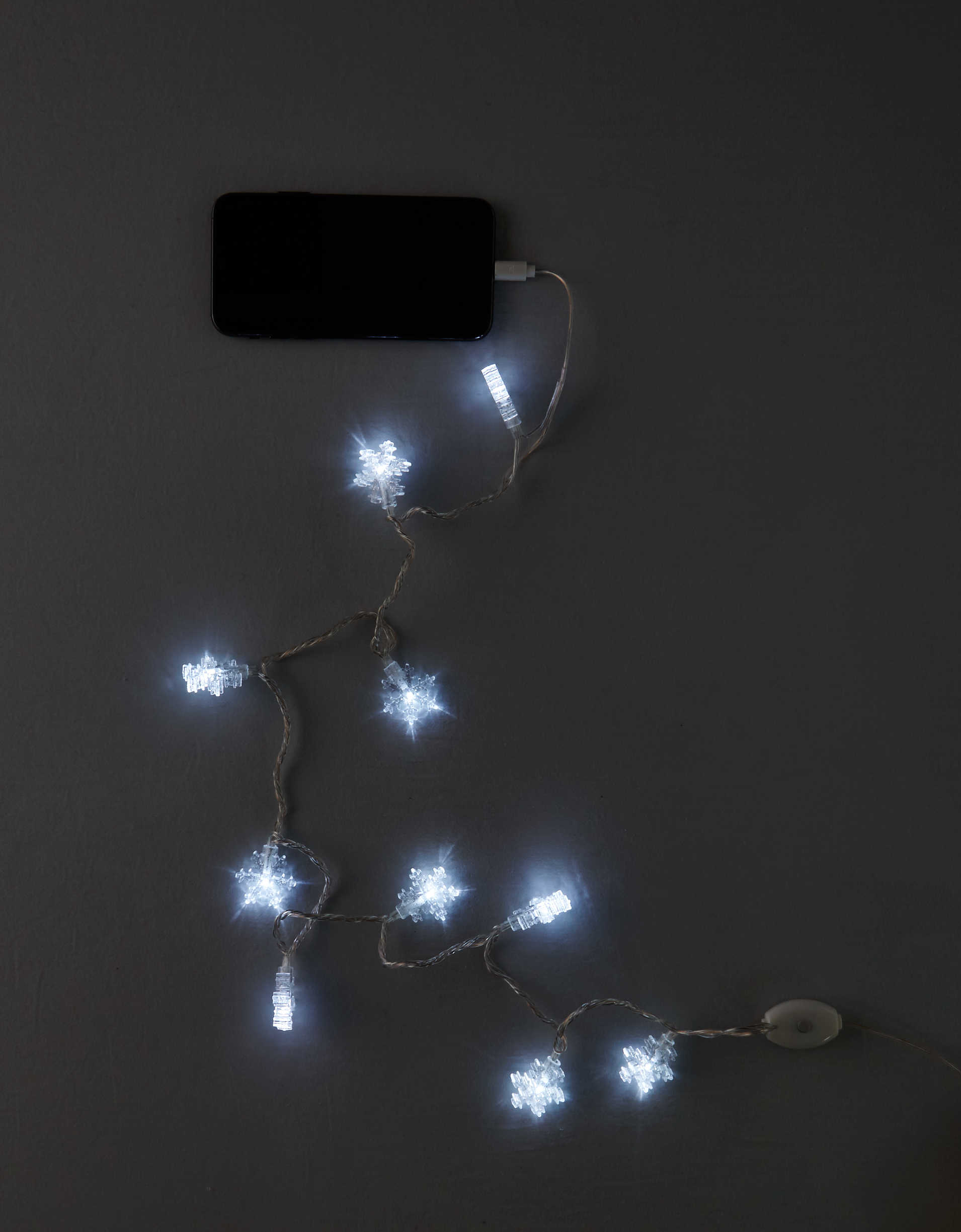 DCI Merry Snowflakes iPhone Charger Cable