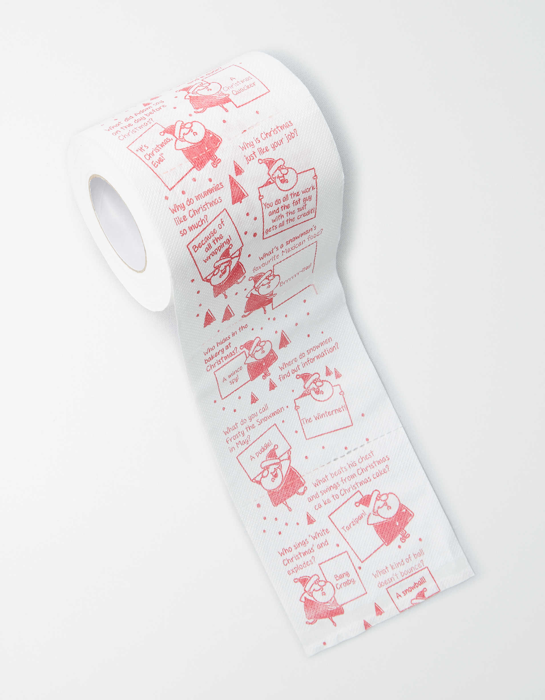 Thumps Up! Christmas Jokes Toilet Paper Roll