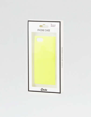 iDecoz Neon Yellow iPhone 7/8 Square Phone Case