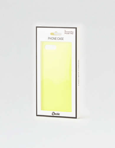 iDecoz Neon Yellow  iPhone 7/8 Plus Square Phone Case
