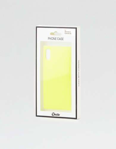 iDecoz Neon Yellow iPhone X/XS Square Phone Case