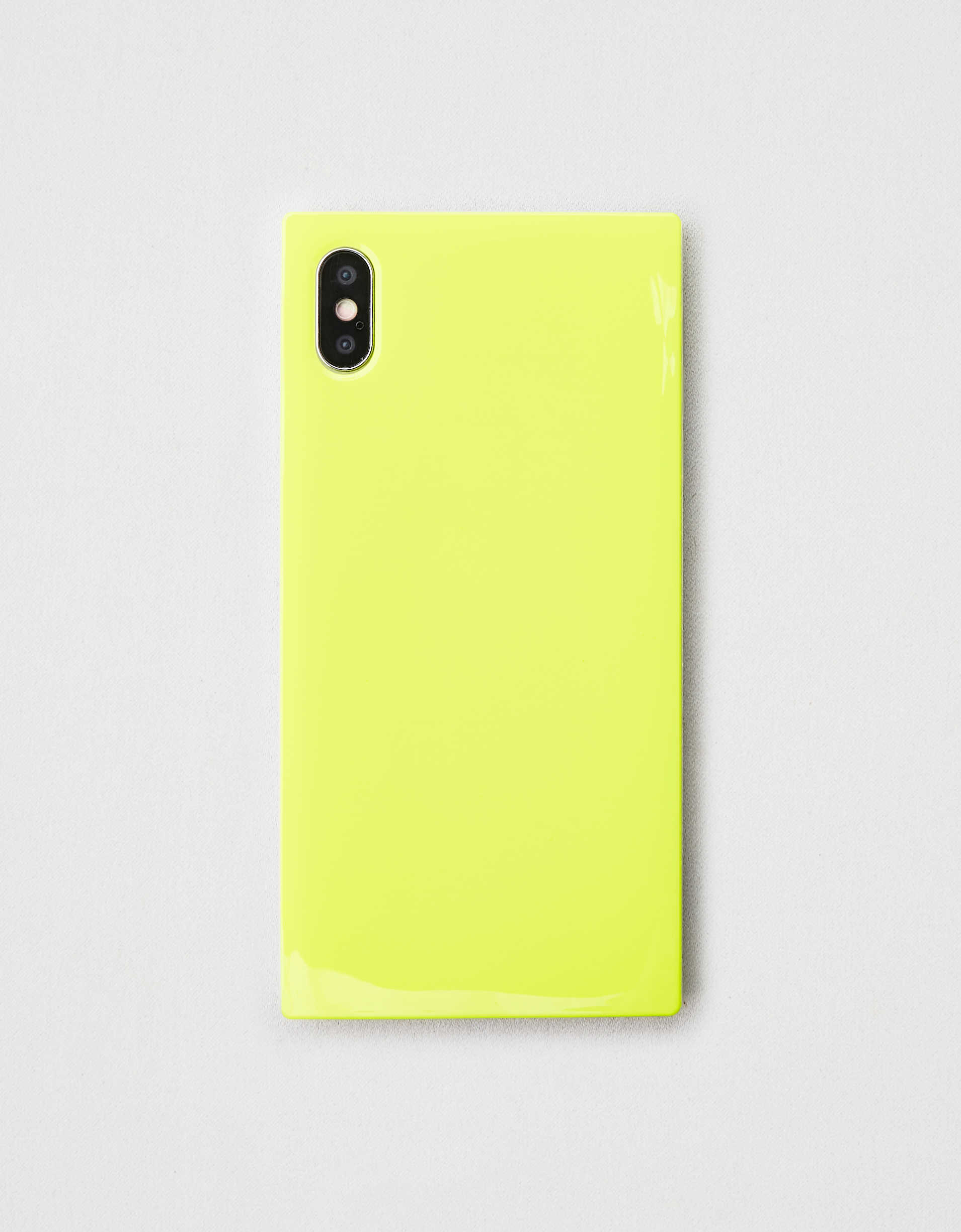 iDecoz Neon Yellow iPhone XS Max Square Phone Case