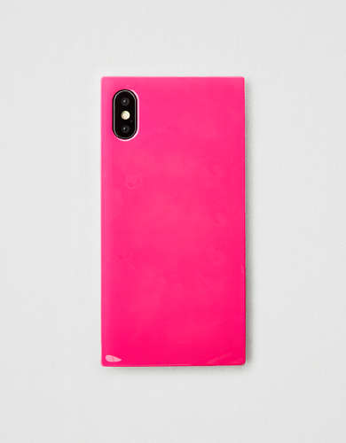 iDecoz Neon Pink iPhone X/XS Square Phone Case