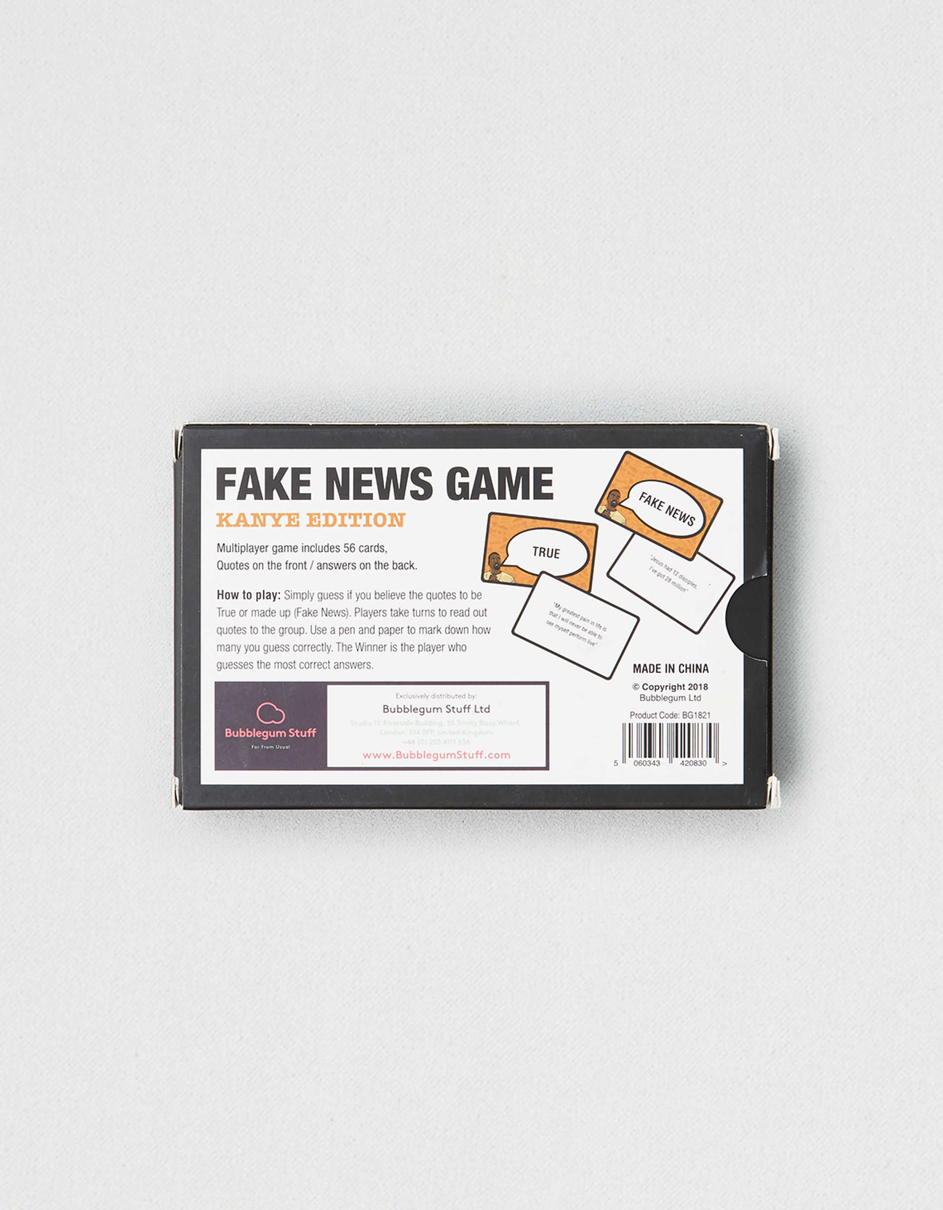 Bubblegum Stuff Fake News Game Kanye Edition