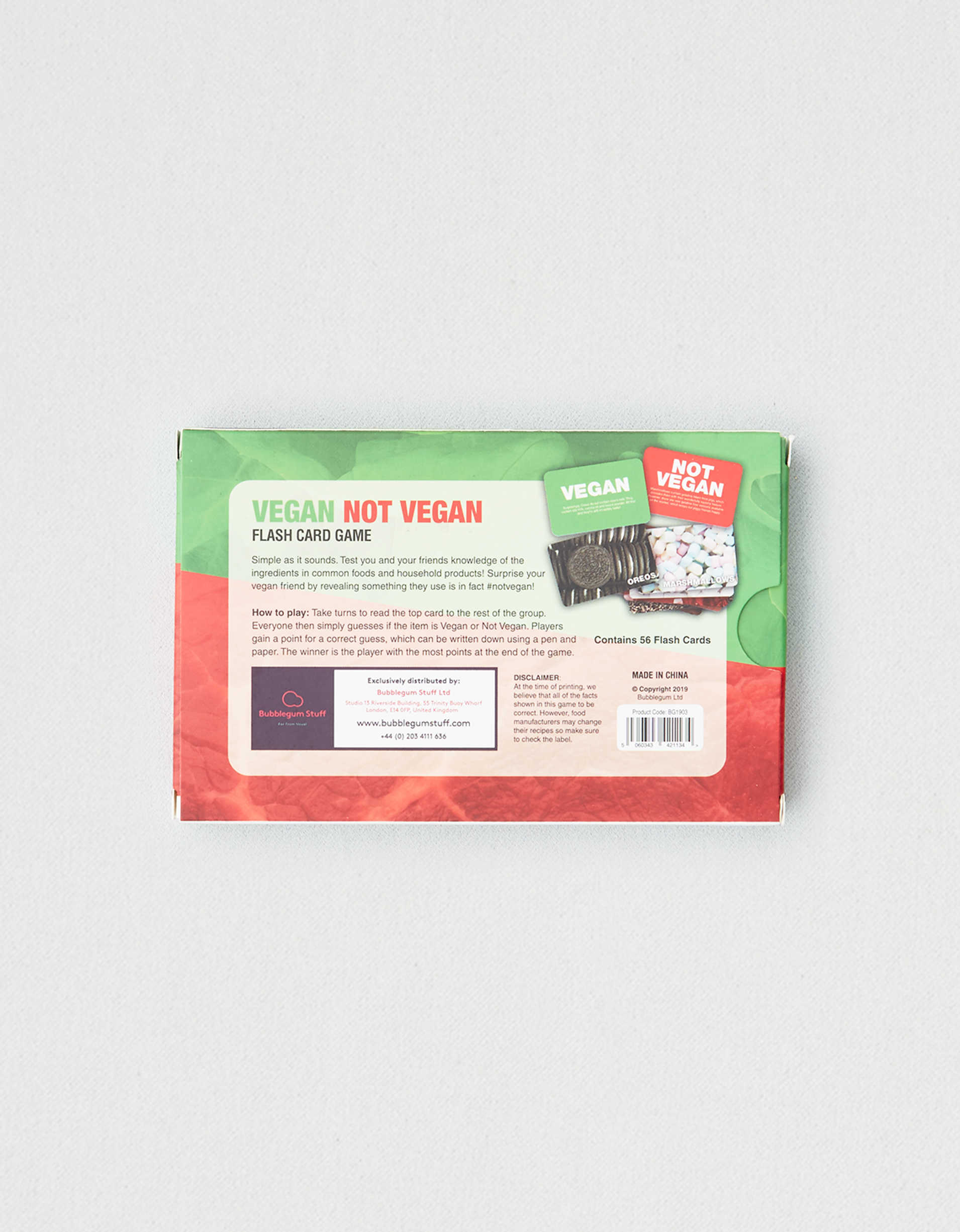 Bubblegum Stuff Vegan Not Vegan Game