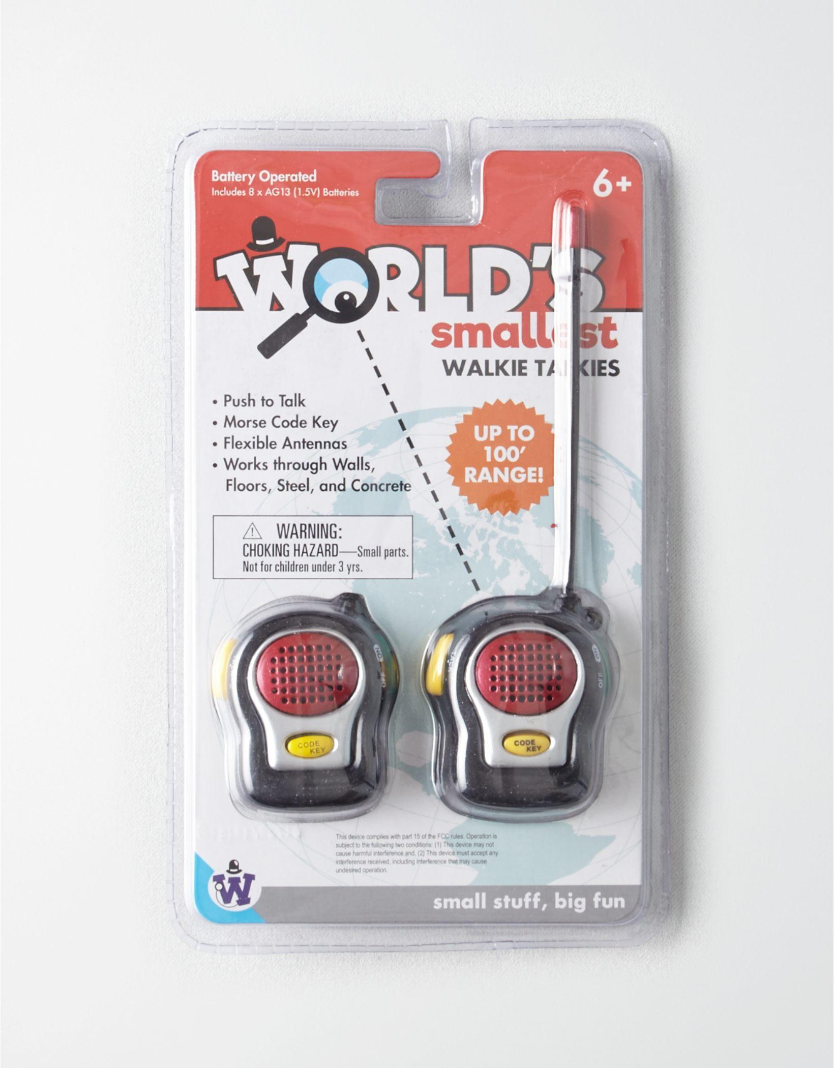 Westminster World's Smallest Walkie Talkies