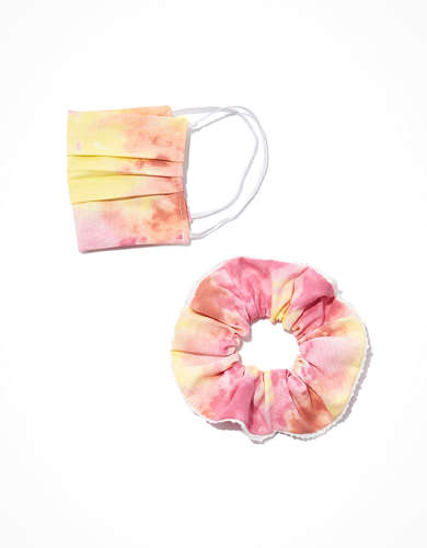 AE Reusable Face Mask & Scrunchie Set